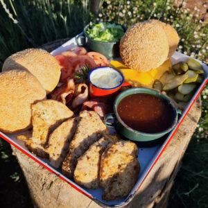 Nala's Chicken Burgers Platter